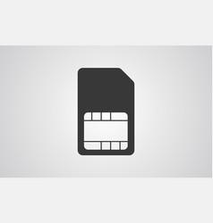 sim card icon sign symbol vector image