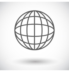 Simple world globe 2 vector