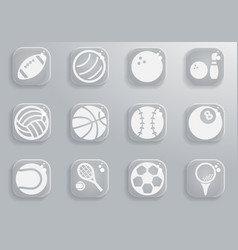 Sport balls simply icons vector