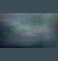 stock rain water droplets on vector image