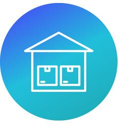 Storage unit icon vector