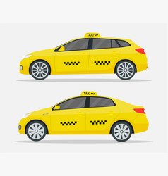 taxi cars new yellow transport in york for driver vector image