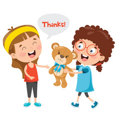 thank you characters vector image