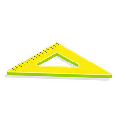 Triangular ruler or measuring tool stationery vector