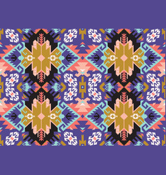Tribal turkish seamless pattern in bohemian style vector