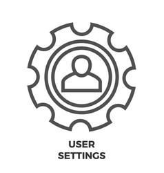 user settings line icon vector image