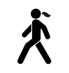 walking woman icon vector image