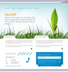 Web page layout vector