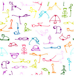 Yoga set seamless pattern for your design vector