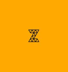 z monogram vector image
