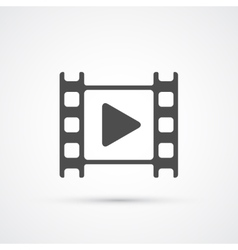 Movie film play icon vector image