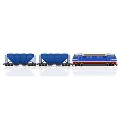 railway train 16 vector image vector image
