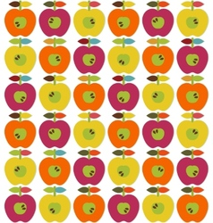 Bright apples seamless vector image vector image