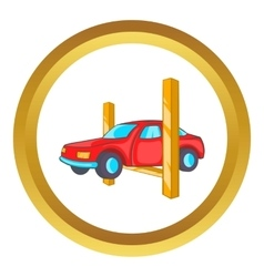 Car lifting icon vector image