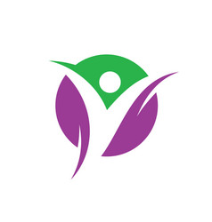 circle happy people logo image vector image
