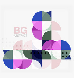 colorful circles modern abstract composition with vector image vector image