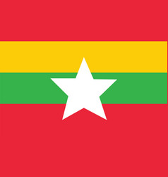 myanmar flag for independence day and infographic vector image vector image