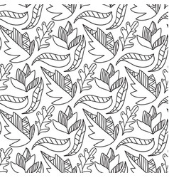 autumn leaves seamless pattern repeating vector image vector image