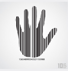 barcode hand vector image vector image