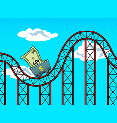 dollar fluctuations pop art vector image