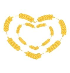 Ears wreath in heart shape icon cartoon style vector