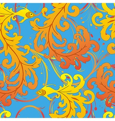 ethnic fish seamless pattern vector image vector image