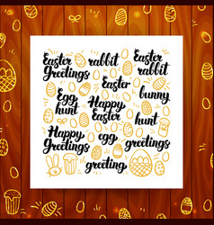 happy easter greeting calligraphy vector image vector image