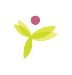 leaf beauty flower logo vector image