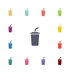 coffee flat icons set vector image