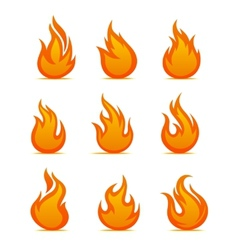 Fire warning symbols vector image vector image