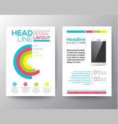 Graphic Design Layout with smart phone template vector image vector image