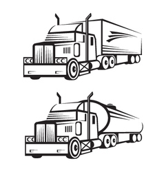 truck and tank truck vector image vector image