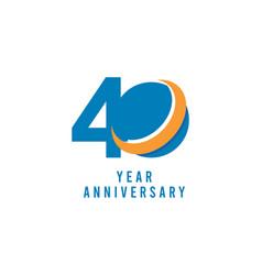 40 years anniversary global template design vector