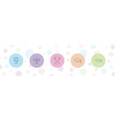 5 achievement icons vector