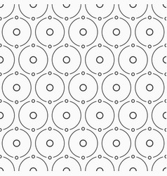 abstract simple pattern of circles monochrome vector image