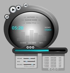 Audio player gadget vector