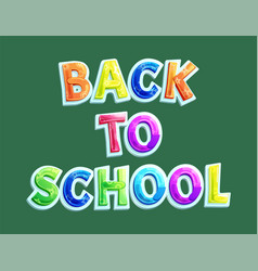 back to school banner with title icon vector image