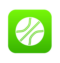 basketball ball icon digital green vector image