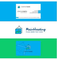 beautiful image frame logo and business card vector image