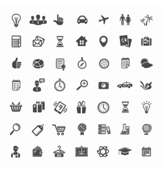 Big icon set travel business retail and sciense vector