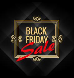 black friday sale poster with artistic frame vector image