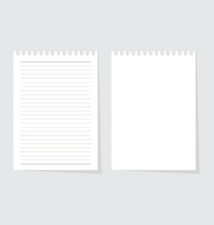 blank paper sheet from writing pad vector image