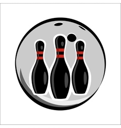 Bowling team or club emblem vector image