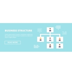 Business Structure horizontal banner with workers vector