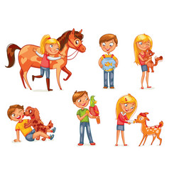 Caring for animals vector
