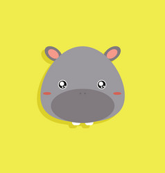 Cartoon hippo face vector
