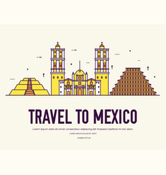 country mexico travel vacation of place and vector image