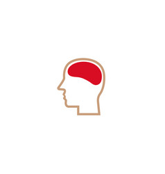 creative head brain logo vector image