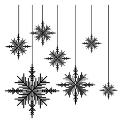 Creative snowflake icon image vector