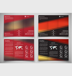 design triple folding brochure printing and vector image